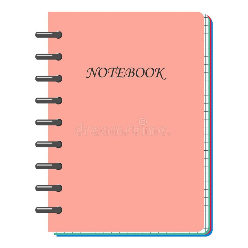 Maquette rose en spirale de carnet, avec l'endroit pour vos détails d'image, de textes ou d'identité d'entreprise illustration libre de droits