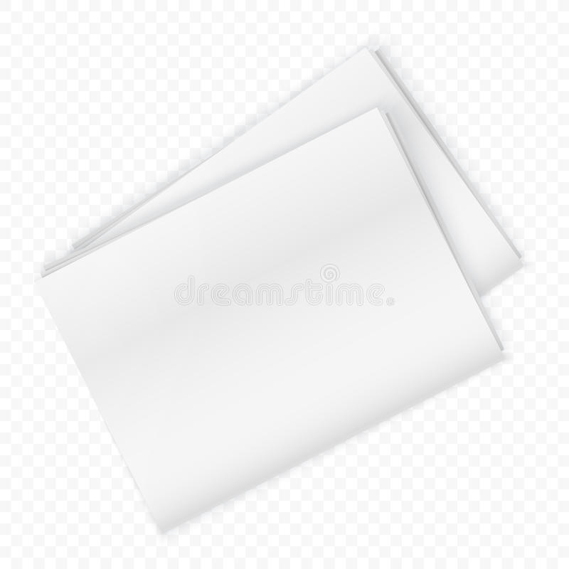 Maquette vide de journal sur le fond transperant Illustration de vecteur illustration libre de droits