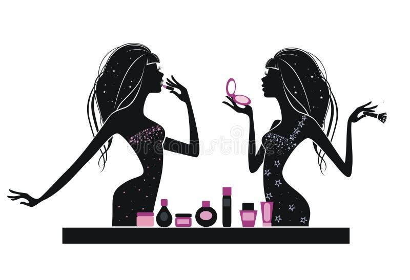 Maquillage illustration stock