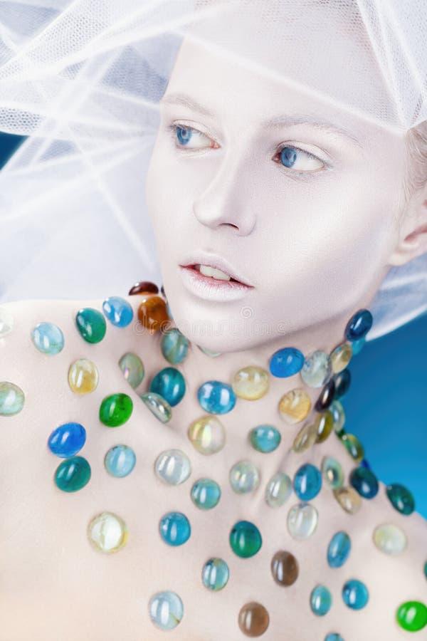Maquillage blanc images libres de droits