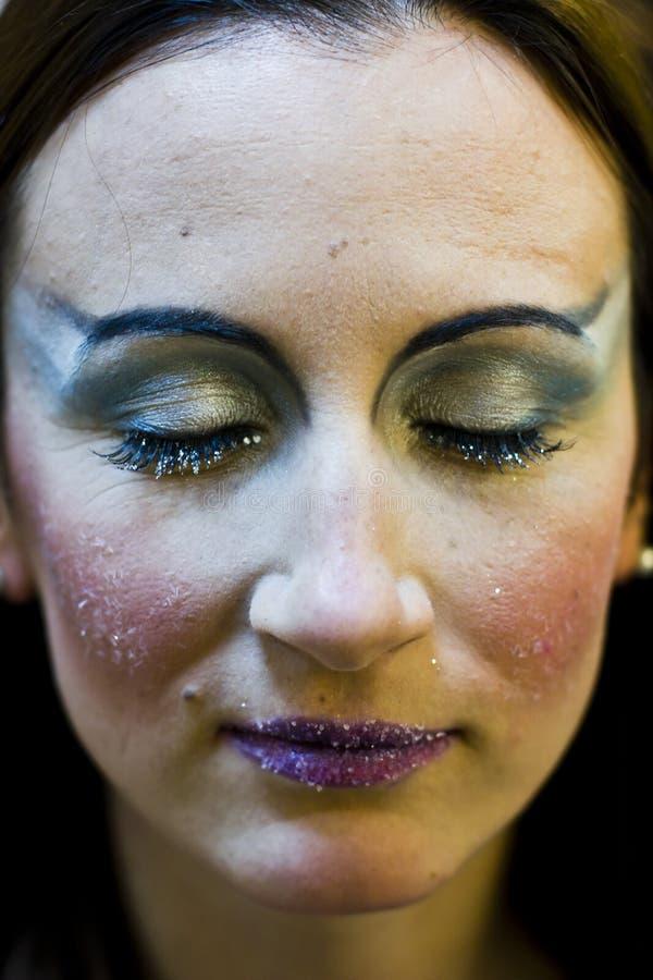 Maquillage d'hiver photographie stock libre de droits