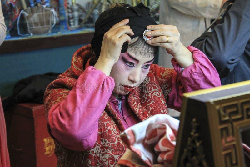 Maquillage d'opéra de Sichuan image libre de droits