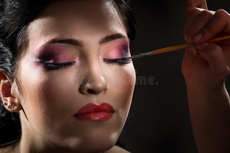 Maquillage de brune photographie stock libre de droits