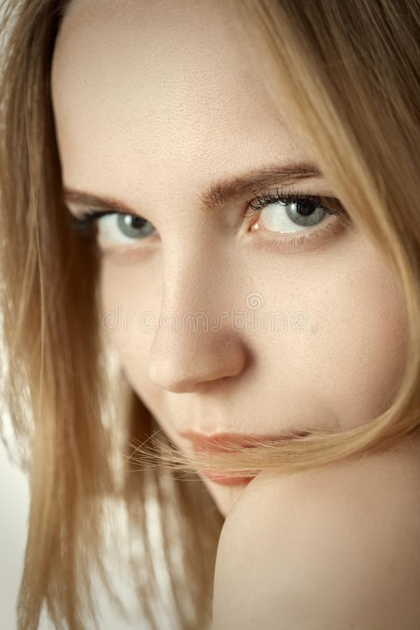 Maquillage naturel femelle image stock