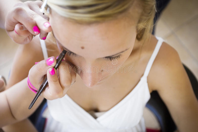 Maquillage nuptiale image stock