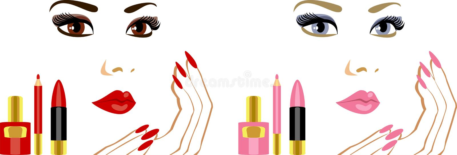 Maquillaje libre illustration