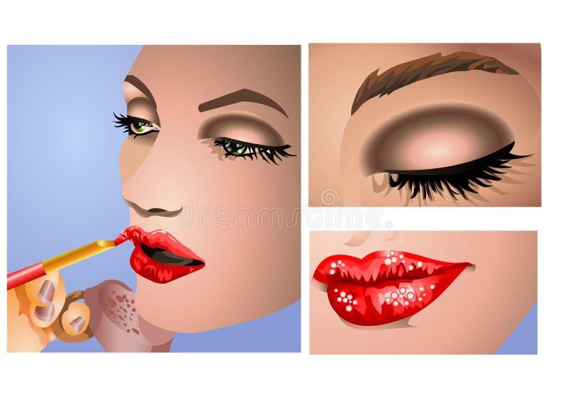 Maquillaje ilustración del vector