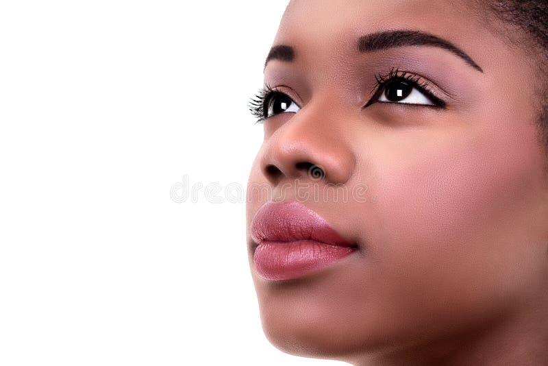 Maquillaje africano de la piel de la mujer fotografía de archivo