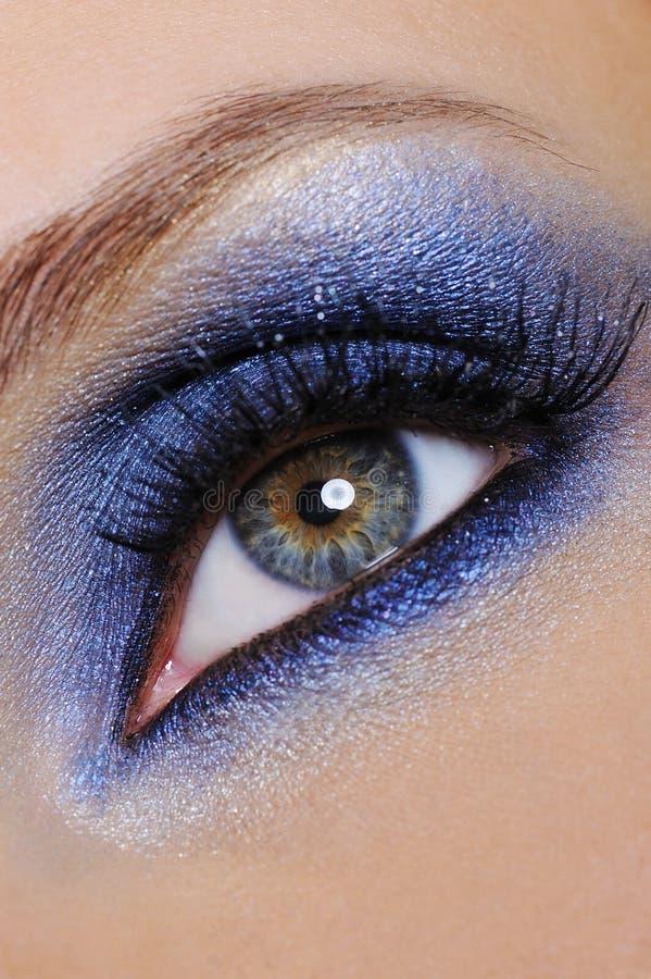 Maquillaje azul fotografía de archivo