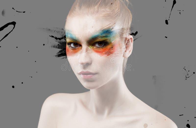 Maquillaje colorido imagen de archivo libre de regalías