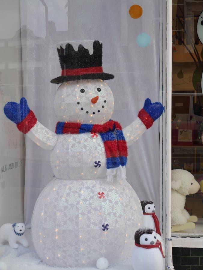 Maquillaje contable grande del muñeco de nieve imagen de archivo libre de regalías