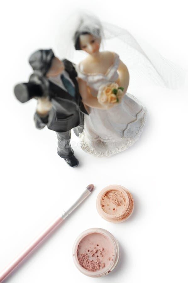 Maquillaje de la boda imagen de archivo