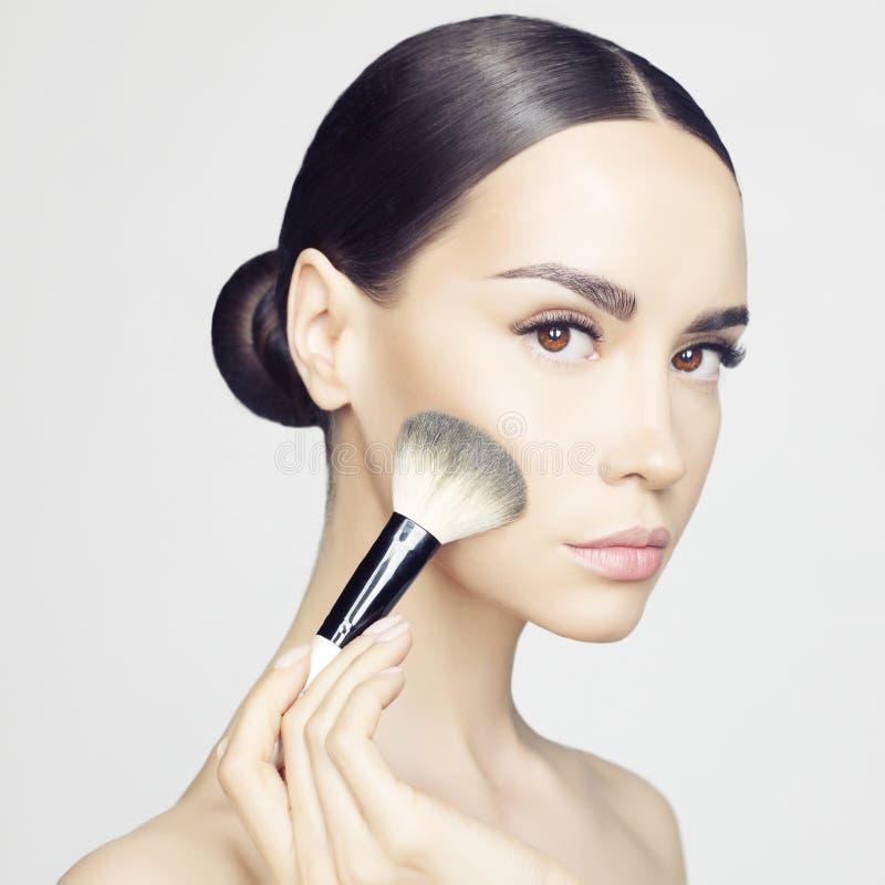 Maquillaje de la cara fotos de archivo libres de regalías