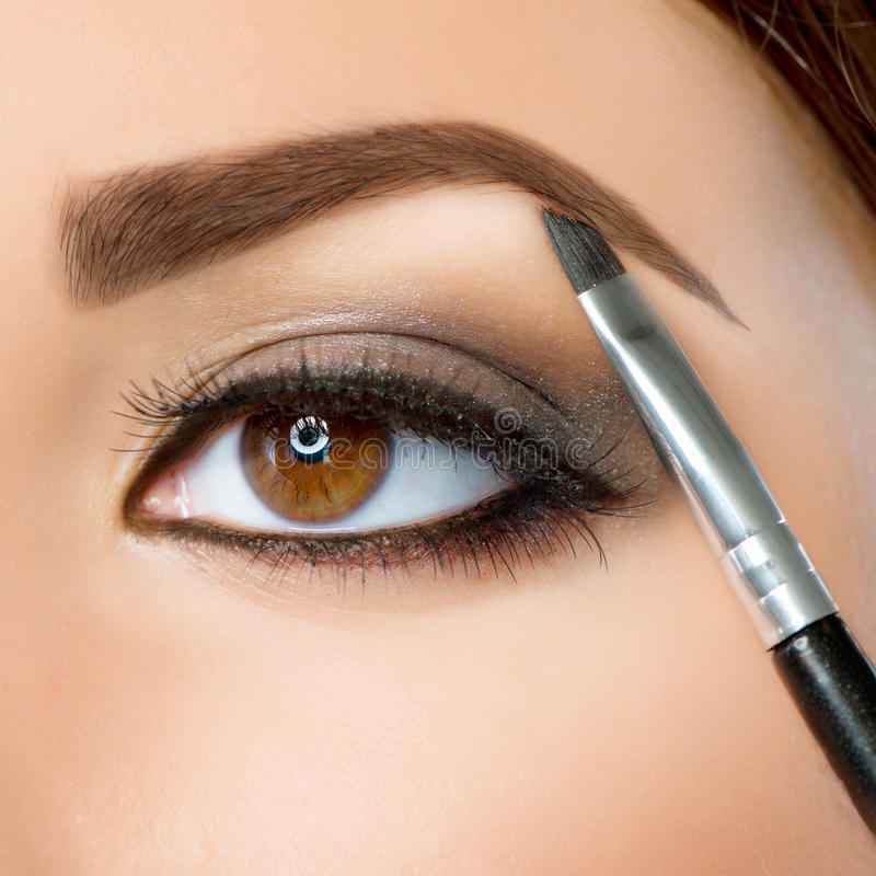 Maquillaje de la ceja imagen de archivo libre de regalías