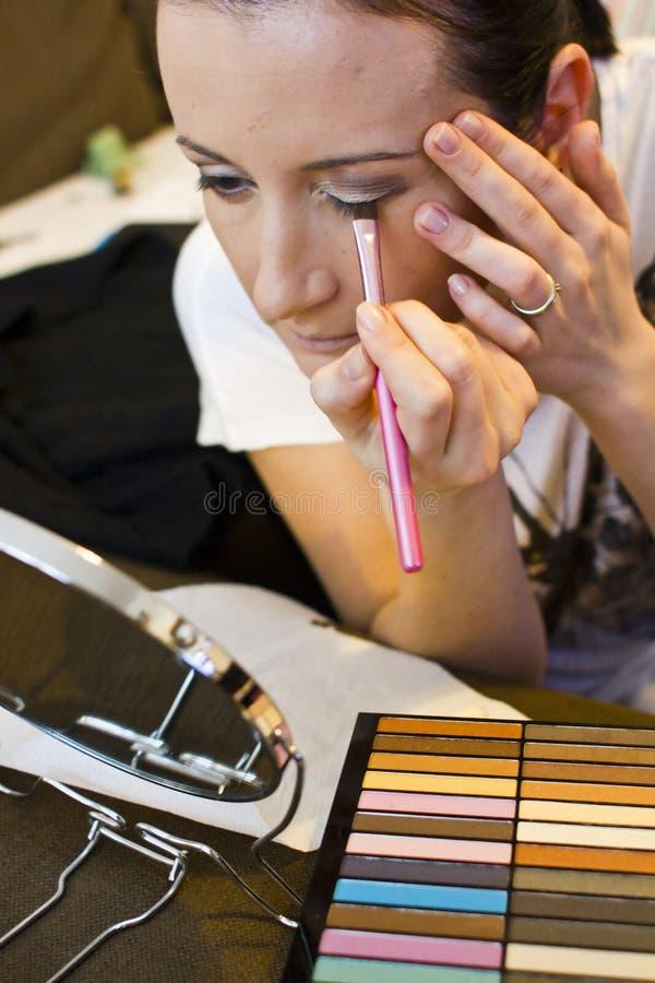 Maquillaje de la chica joven fotos de archivo