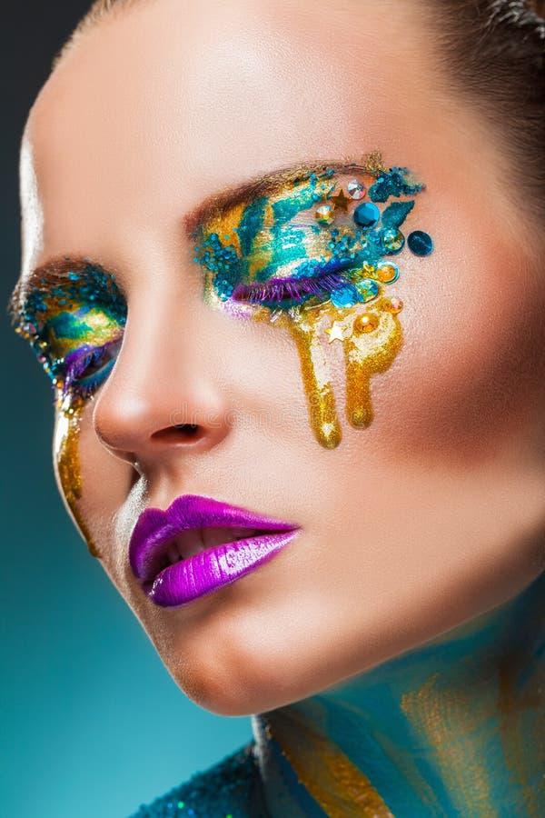 Maquillaje de la fantasía imágenes de archivo libres de regalías
