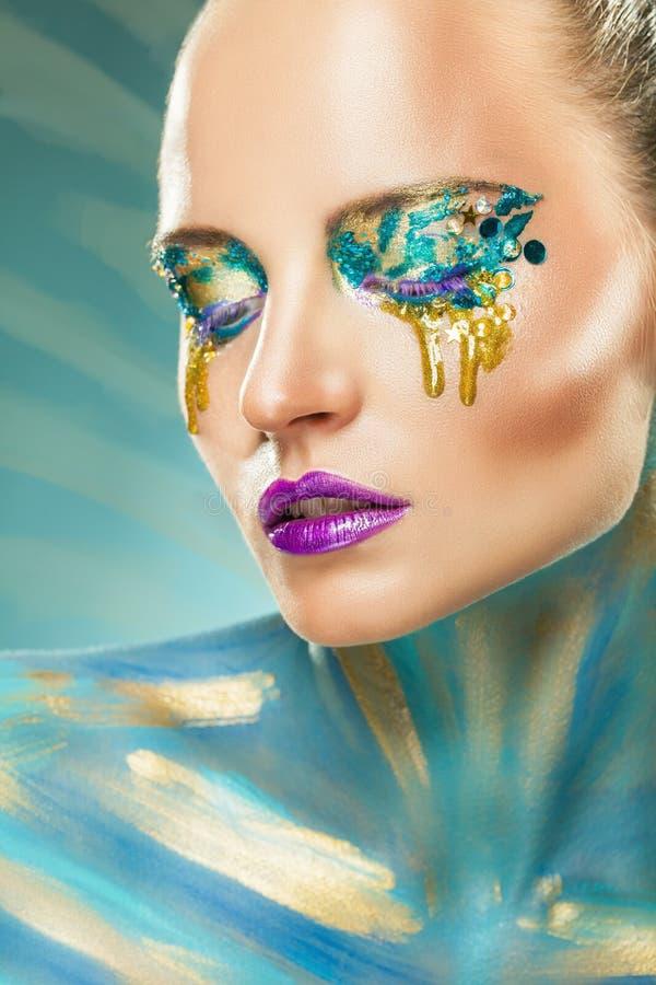 Maquillaje de la fantasía foto de archivo libre de regalías