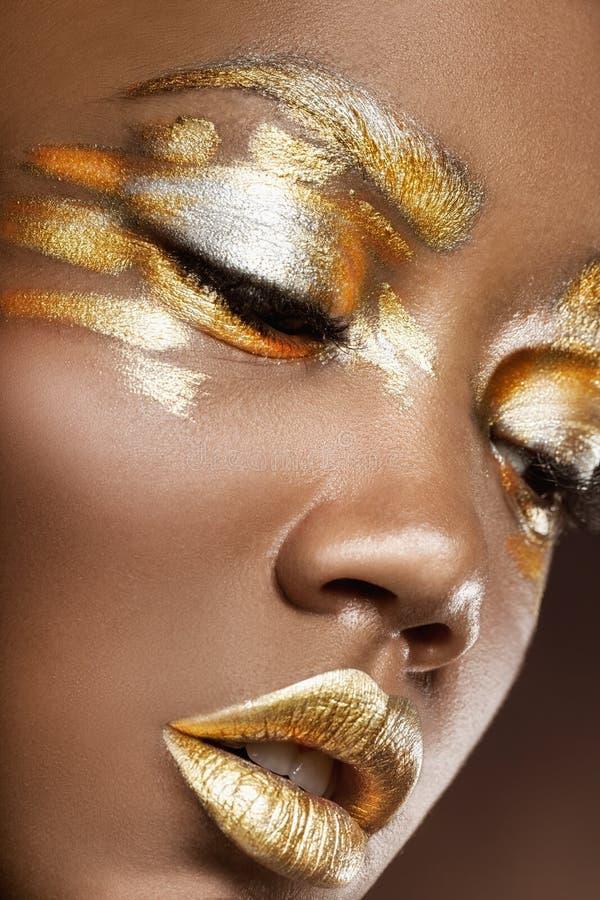 Maquillaje de la manera foto de archivo libre de regalías