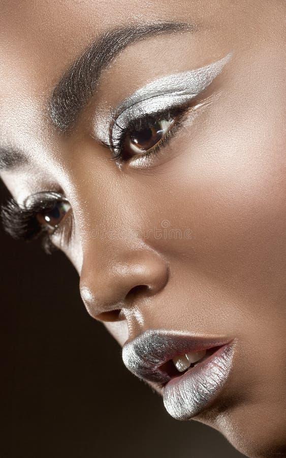 Maquillaje de la manera imagenes de archivo