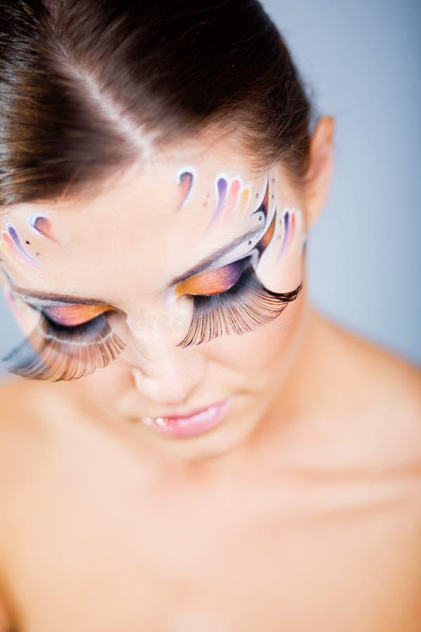 Maquillaje de la manera con arte de la cara imagen de archivo libre de regalías