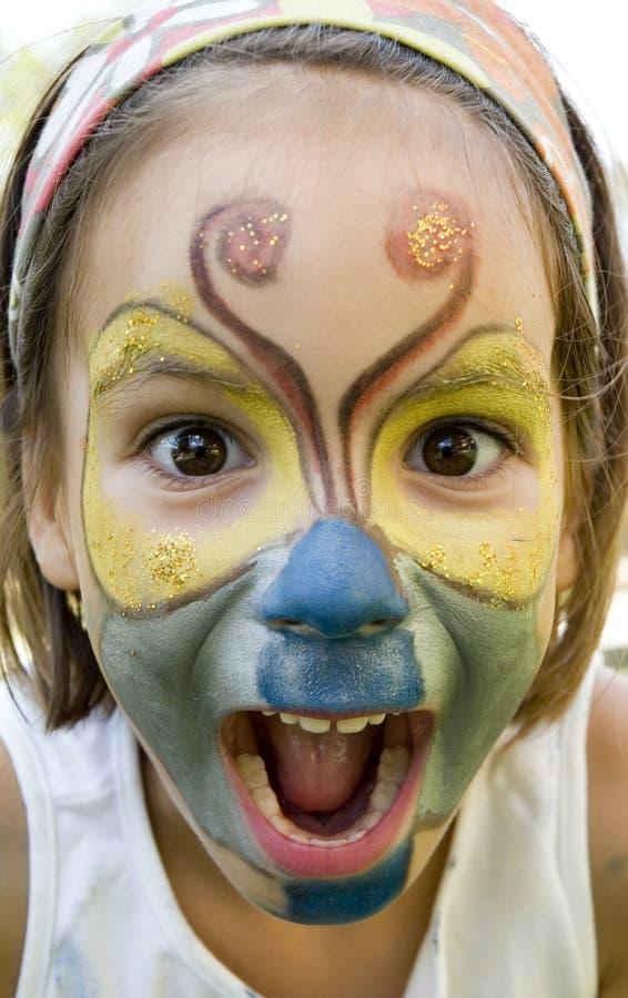 Maquillaje de la mariposa imagen de archivo libre de regalías