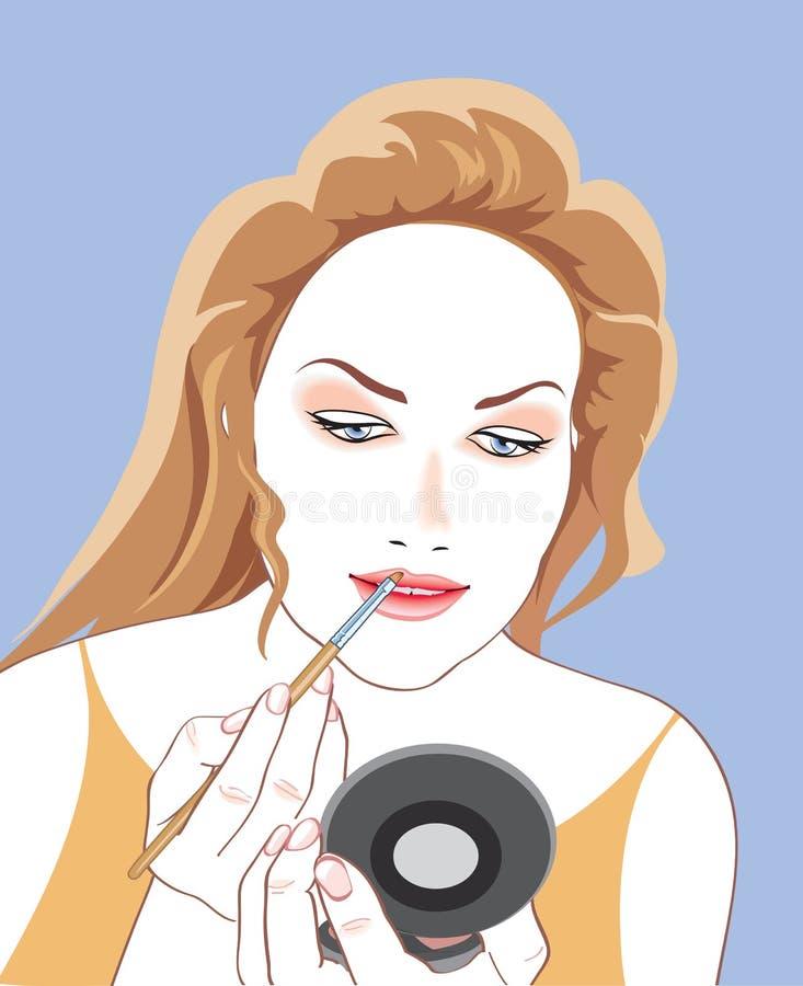 Maquillaje de la muchacha libre illustration
