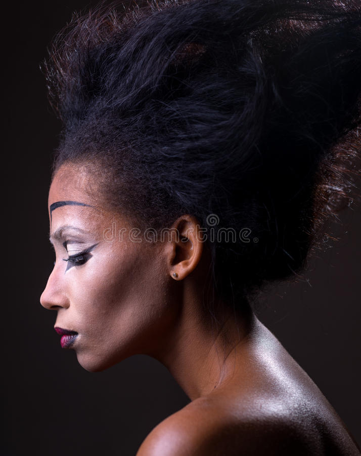 Maquillaje de la muchacha afroamericana foto de archivo libre de regalías