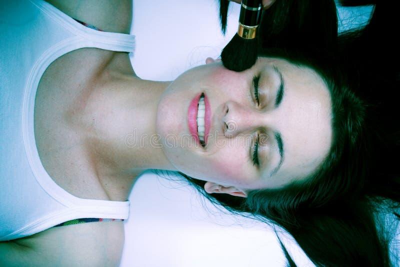 Maquillaje de la mujer foto de archivo