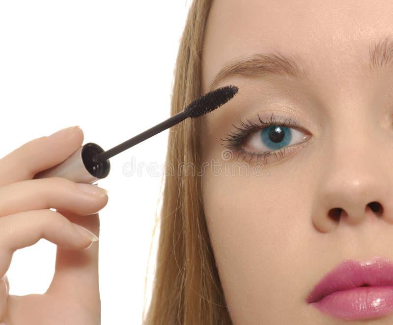 Maquillaje de la mujer joven fotografía de archivo