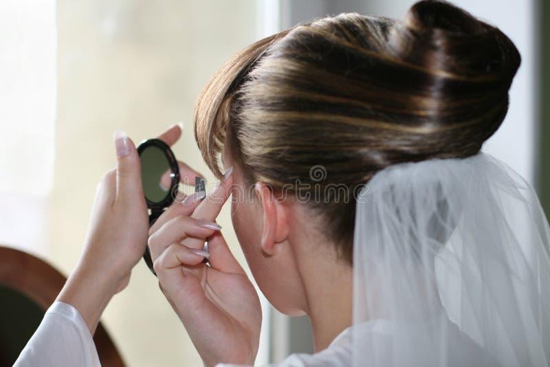 Maquillaje de la novia foto de archivo libre de regalías