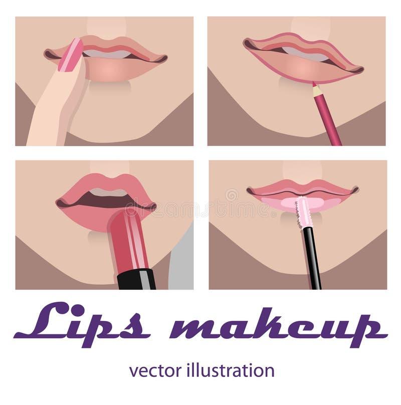 Maquillaje de los labios imagen de archivo