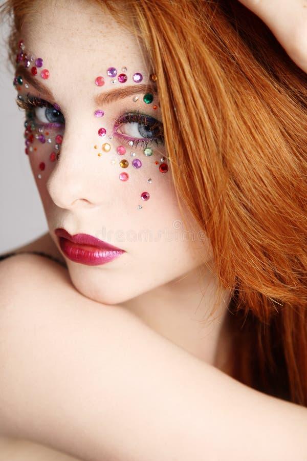 Maquillaje de lujo fotos de archivo libres de regalías