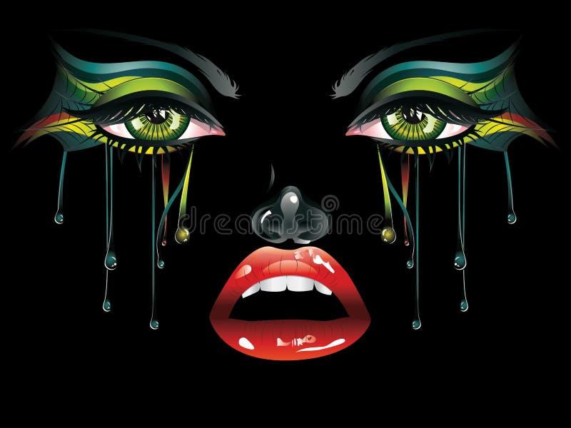 Maquillaje del carnaval stock de ilustración