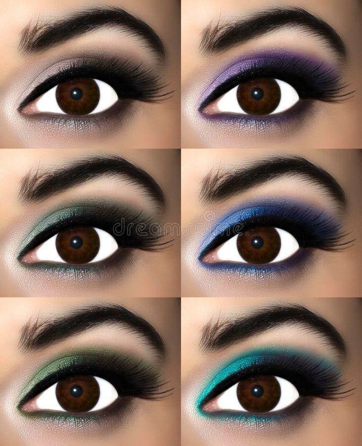 Maquillaje del ojo de Brown foto de archivo