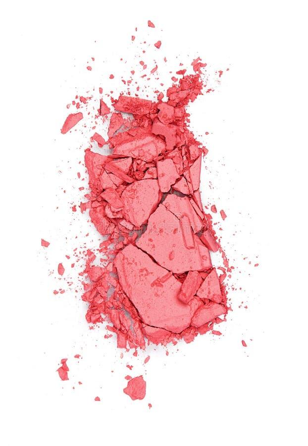 maquillaje El rosa se ruboriza en el fondo blanco imágenes de archivo libres de regalías