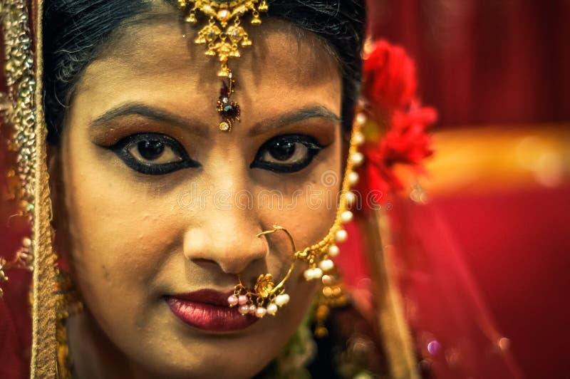 Maquillaje en Bangladesh imagenes de archivo