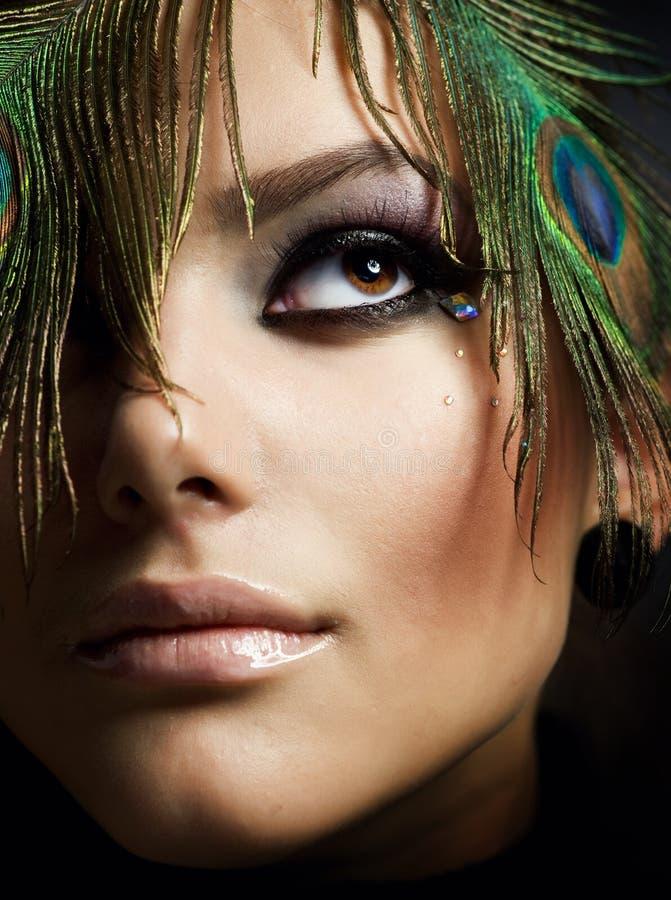 Maquillaje hermoso fotografía de archivo