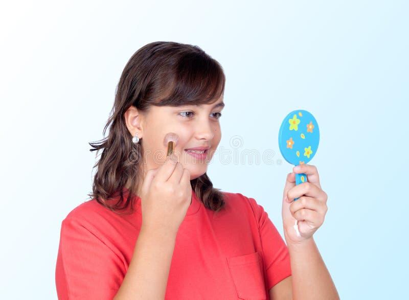Maquillaje hermoso de la muchacha fotos de archivo