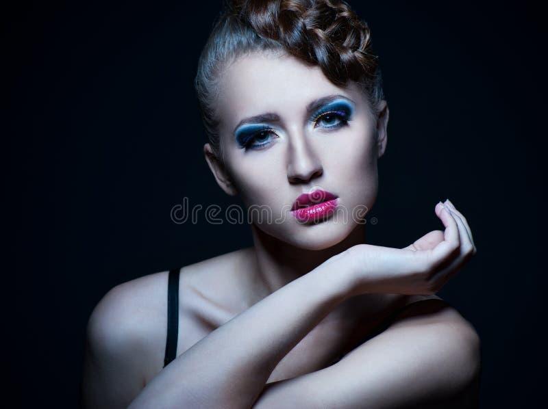 Maquillaje hermoso de la mujer Face.Perfect de la manera fotos de archivo libres de regalías