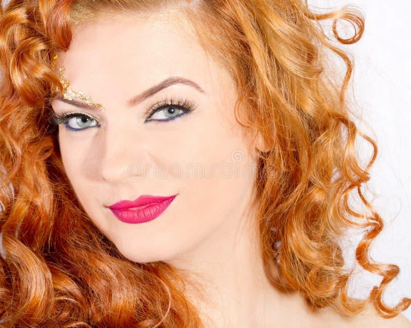 Maquillaje hermoso de la señora foto de archivo libre de regalías