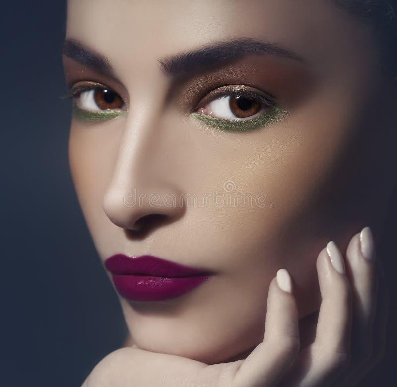 Maquillaje hermoso del otoño fotografía de archivo libre de regalías