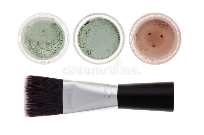 Maquillaje mineral aislado imagen de archivo libre de regalías