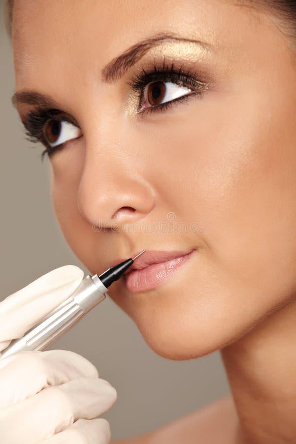 Maquillaje permanente foto de archivo libre de regalías