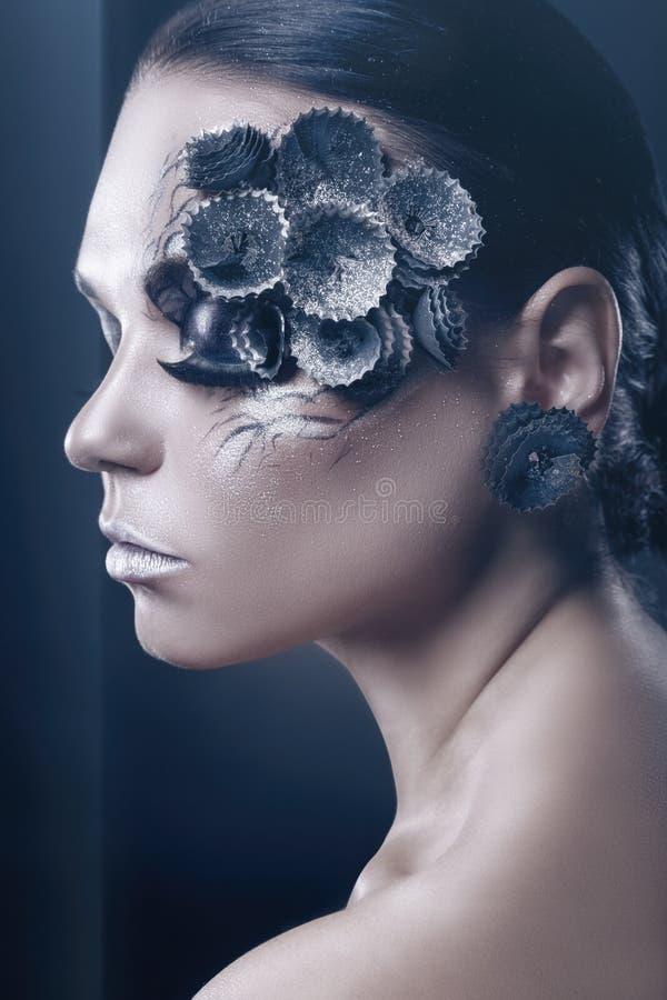 Maquillaje profesional de la moda fotos de archivo libres de regalías