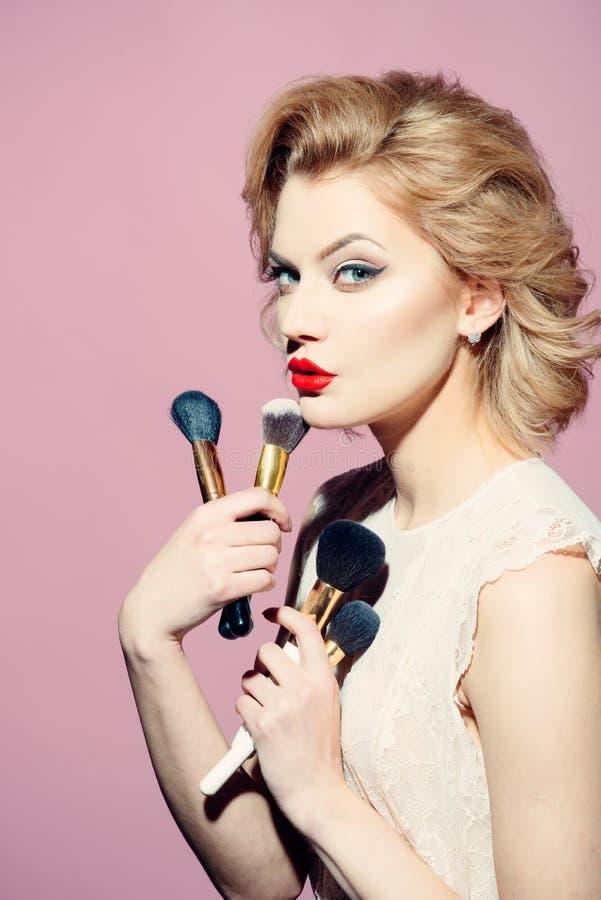 Maquillaje y cosméticos, skincare, rostro imagenes de archivo