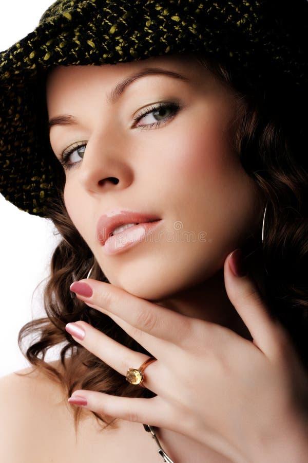 Maquillaje y manera fotos de archivo libres de regalías