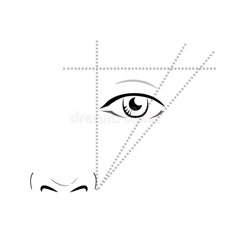Maquilleur Blank de diagramme de visage illustration stock