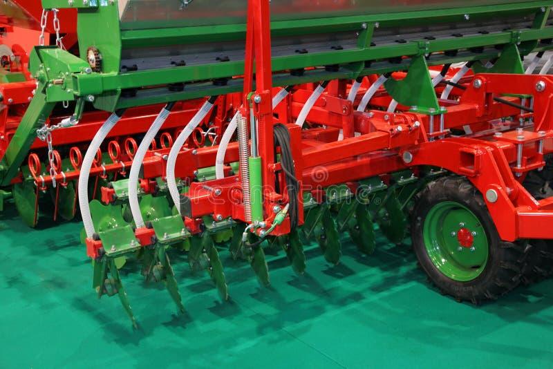 Maquinaria agricultural. Máquina de semear do disco imagens de stock royalty free