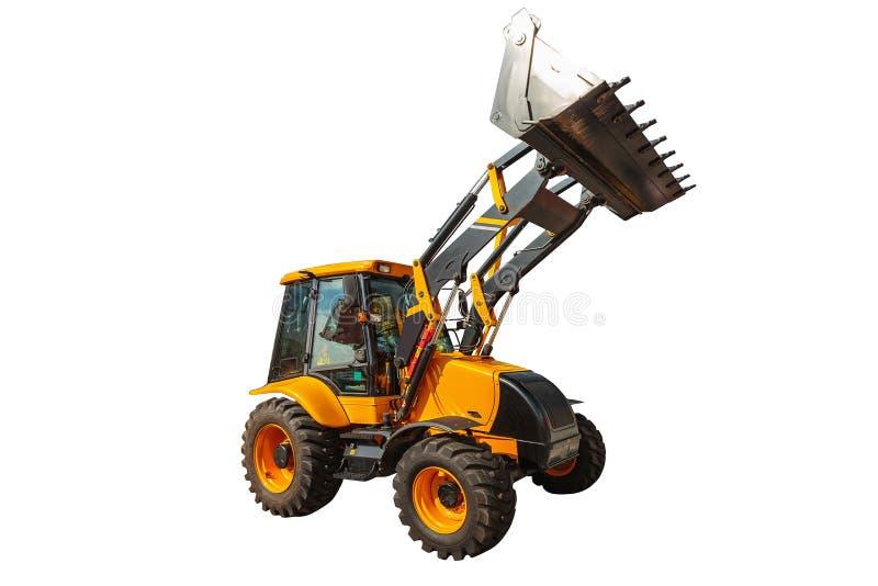 Maquinaria de construcción del excavador del cargador aislada con acortar p fotos de archivo libres de regalías