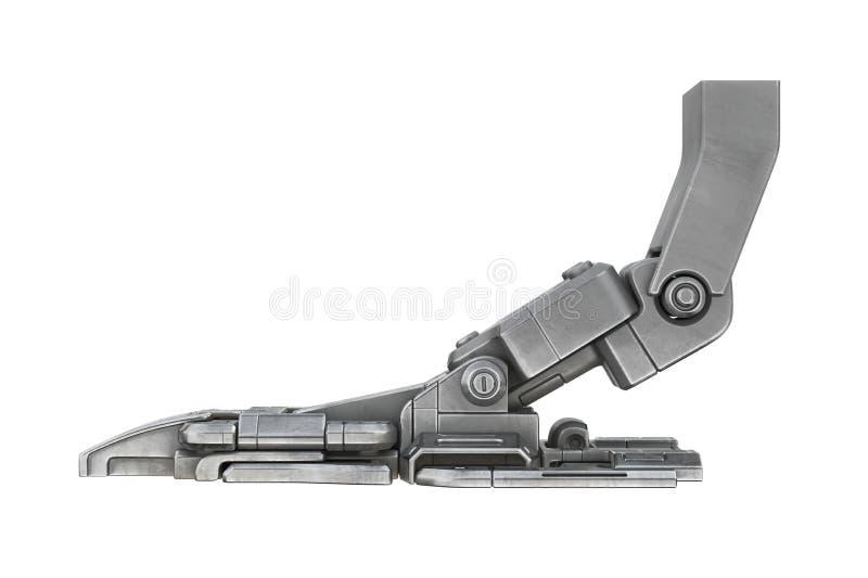 Maquinaria de la robótica de la pierna de la ciencia ficción, vista lateral stock de ilustración